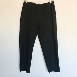 Eileen Fisher Pants PM Black Organic Cotton Crop